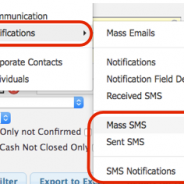 Mass sms portal in StudentLogic system