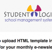 StudentLogic – How to upload HTML template into Mass Email for your monthly e-newsletter.